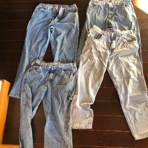 Wrangler  gap jeans 36x 32 lot